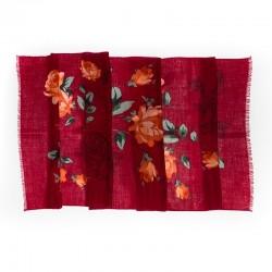 Esarfa lana Mila Schon  bordo roses