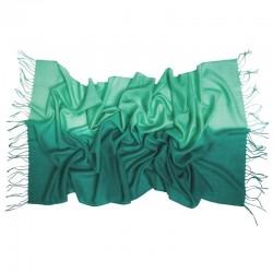 Esarfa lana M. Schon duble color green